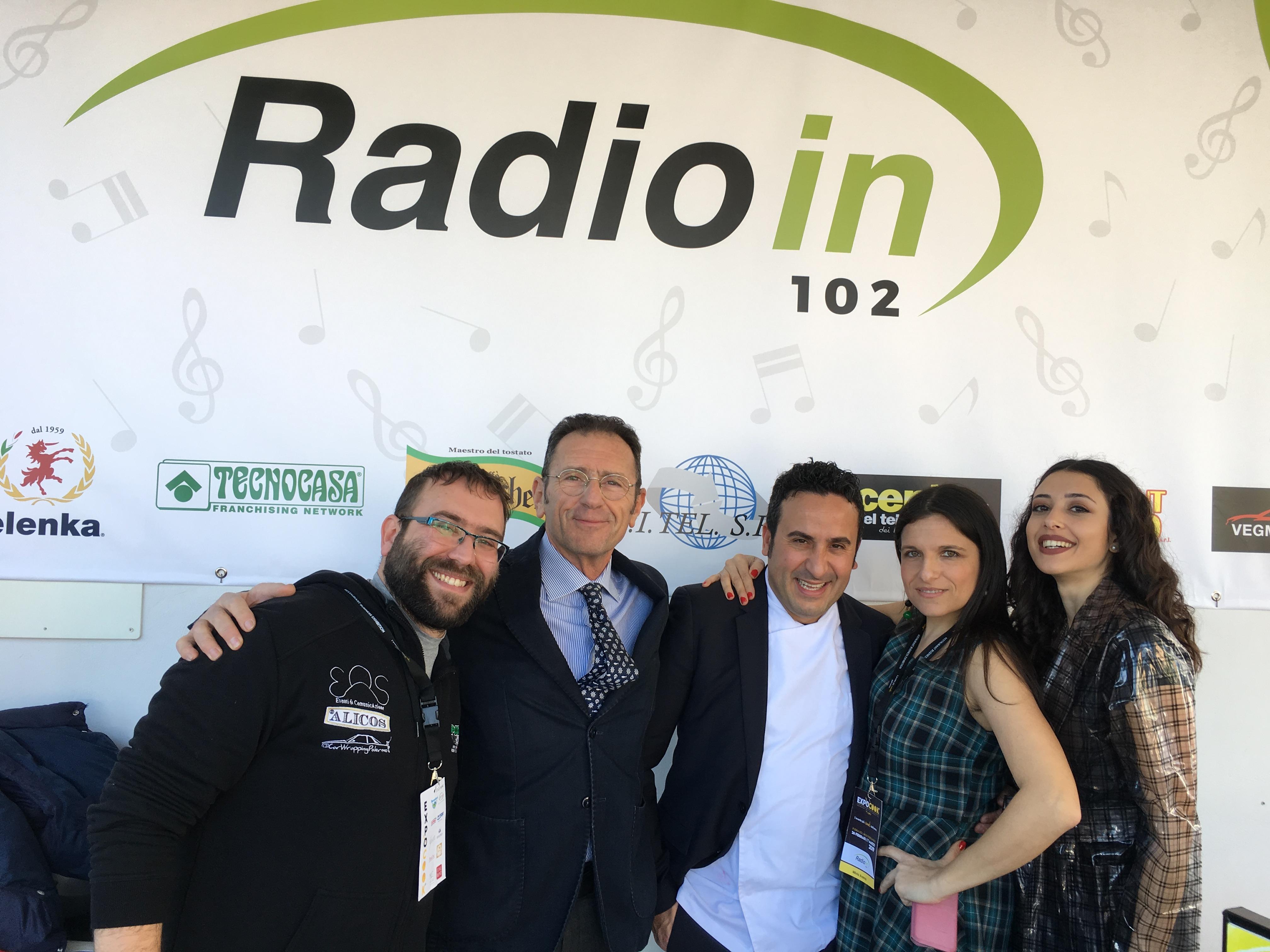 Milvia Averna e Sara Priolo con gli chef Gigi Mangia e Natale Giunta ed il regista Mirko Ufo Valenti