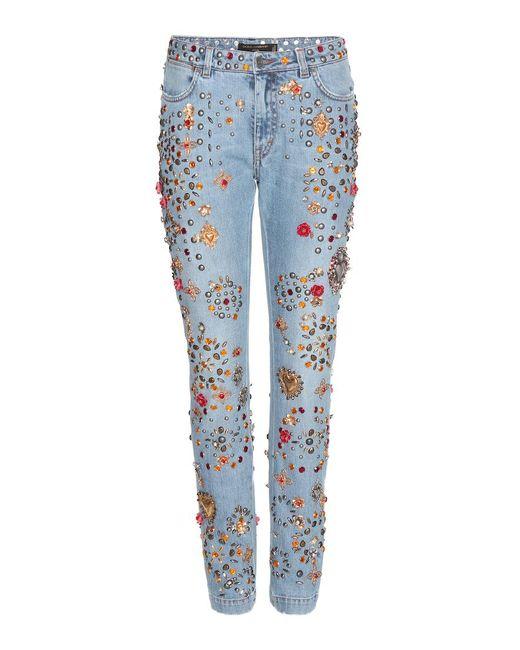02. Lyst Dolce e Gabbana_Boyfriend Jeans con decorazioni